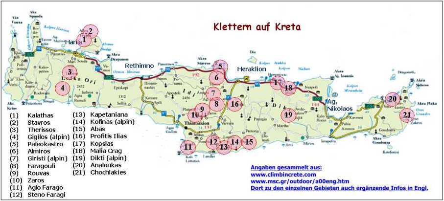 Kreta Karte Mit Sehenswürdigkeiten.Kreta